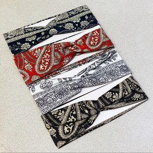 🔴3/$15 Paisley print wide headband